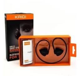 Fone de Ouvido Sports Bluetooth sem Fio Inteligente Wireless Kd-908 - Preto