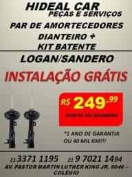 Amortecedores dianteiro do Logan/Sandero instalação grátis com kit parcial