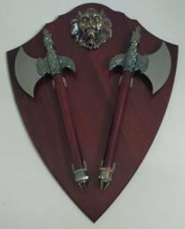 Escudo do Templário de Madeira 60cm por 45cm