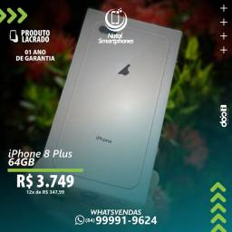 IPHONE 8 PLUS 64GB COM 4GB TELA 5.5 POLEGADAS ( LACRADO) CORES: OURO ROSE OU BRANCO