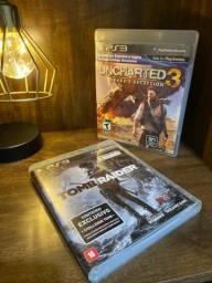 Jogo Uncharted 3: Drake's Deception + Tomb Raider Ps3 - Usado