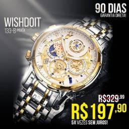 Título do anúncio: Sem Juros! Relógio de Luxo WishDoit 133-B (Novo)