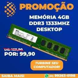 Título do anúncio: Memoria 4gb DDR3 Nova Teikon Smart Positivo Instalação Gratis Promoção