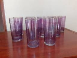 Título do anúncio: 11 copos de cristal 400 ml usados