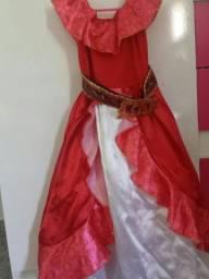Fantasia princesa Elena de Avalor Luxo de R$ 120,00 por apenas R$ 90,00!!!