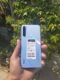 Note 8 64gb 4ramou branco + Fone Mi basic bluetooth (Brinde)