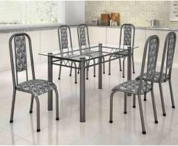 Imperdível!!!Mesas de vidro com 04 ou 06 cadeiras