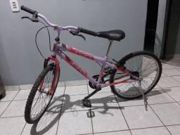 Bicicleta rosa aro 24