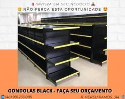 Gôndolas Black - Grupo SA | Matheus