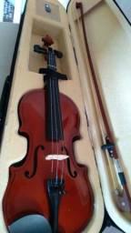 Violino Madeira Crina Animal Case Marinos 4/4 Mv-44 Canhoto<br><br>