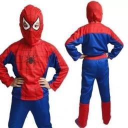 Título do anúncio: Fantasia homem aranha p,M,g