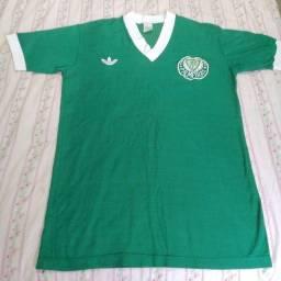 Título do anúncio: Camiseta da década de 80 do Palmeiras autografada