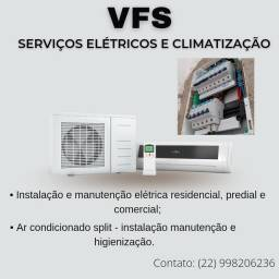 Título do anúncio: VFS Serviços Elétricos e climatização