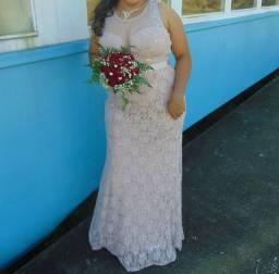 Lindo vestido de festa, usado somente uma vez