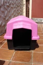 Título do anúncio: Casa de Cachorro Média Rosa / Preto 63 cm x 65 cm x 74 cm