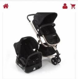Vendo carrinho e cadeirinha para bebê