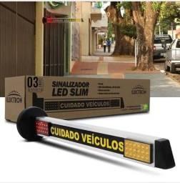 Título do anúncio: Sinalizador Slim LED de Garagem 72 LEDs 90V-240V Vermelho e Âmbar Entrada Saída Veículos