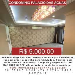 Cond. Palacio das Águas Apto com 4 suites com modulados e ar.