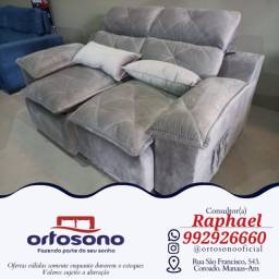 Título do anúncio: # Sofa sofa Reclinavel e retratil entrega gratis