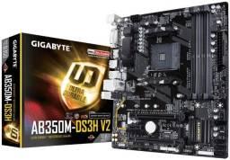 Título do anúncio: Vendo Gigabyte AB350m-ds3h v2