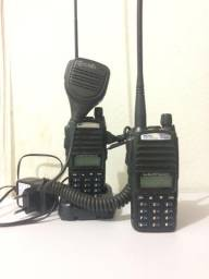 02 ht UV82 + 01 carregador + antena Nagoya + ptt original csb
