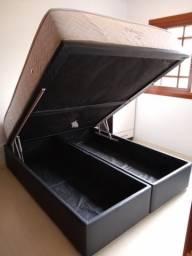 Colchão Ortopur + box baú tamanho Queen