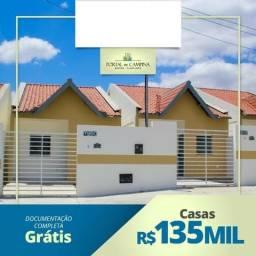 Casas prontas para morar, com 2 quartos, beco e documentação gratis