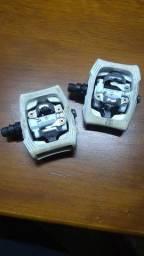 Pedal 9/16 Clip Plataforma Shimano Pd-t400 Click-r Branco