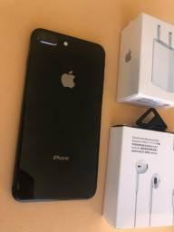 IPhone 8 Plus 64GB Black - otimo estado - completo
