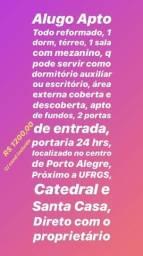 Apto 1 dorm centro de Porto Alegre