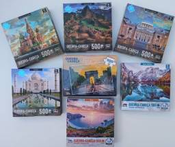 Quebra Cabeça 500pcs Puzzle Pais E Filhos Coluna Game Office