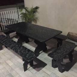 Linda mesa de ardósia 2 metros