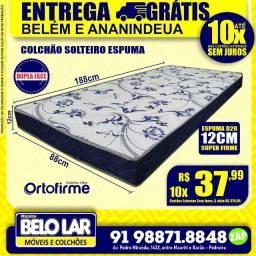 Colchão Espuma Solteiro Dupla Face ortofirme R$379,99 .zap * Pronta Entrega