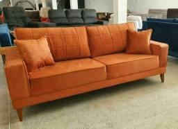 Título do anúncio: sofa com pes de madeira