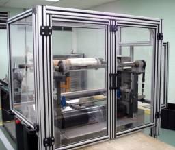 Projetos Mecânicos em Perfil de Alumínio Estrutural.