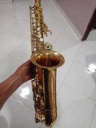 Título do anúncio: Sax alto waldeman troco em sax soprano curvo