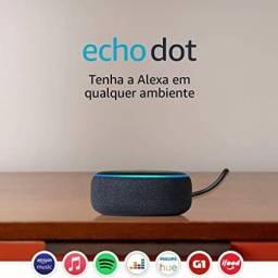 Alexa Eco Echo Dot Amazon Smart Speaker 3 Geração Alexia Preta Original