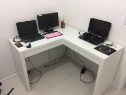 Título do anúncio: Mesa com gavetas/ para cantos/multiuso / escritório/ escrivaninha Nova MDF