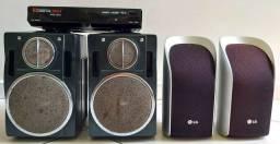 4 Caixas de som e um Conversor Digital