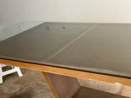 Urgente mesa compensado com vidro