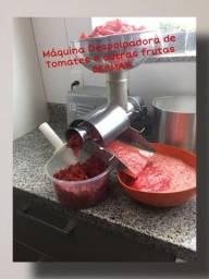 Máquina de tirar pele e sementes do tomate separando a polpa