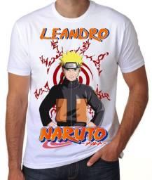 Camiseta Naruto com nomes personalizados!