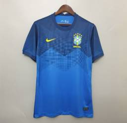 Camisa Seleção Brasil II oficial 20/21 s/n°  Nike Masculina - Azul<br>
