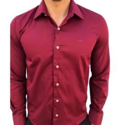 Título do anúncio: Camisa Social Bordô Promoção