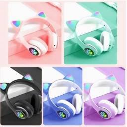 Fone de Ouvido Headphone Sem Fio Bluetooth Gatinho Cat Ear - 5 cores