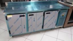 Balcão bancada refrigerada inox 185cm (nova) Alecs