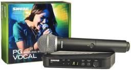Título do anúncio: Microfone Shure PG58 BLX Wireless Vocal Studio Design