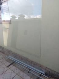Porta de vidro temperado  Blindex 8mm 213 x  175 cm