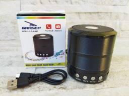 Título do anúncio: Caixinha Som Portátil Bluetooth Mp3 Fm Sd Usb Preta