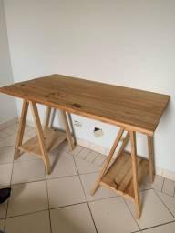 Título do anúncio: Cavalete, mesa, cantinho do café de madeira rústico